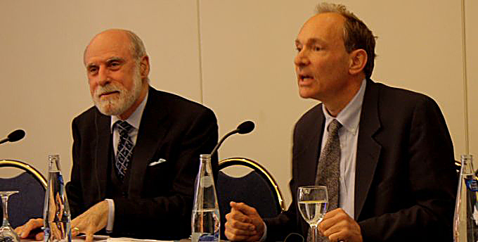 Vinton Cerf y Tim Berners-Lee