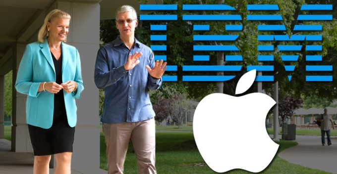 Virginia Rometty y Tim Cook